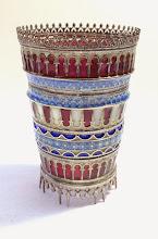 Photo: Plique-à-Jour Enamels by Diane Echnoz Almeyda - Gallery Vessel - Sterling Silver, Plique-à-Jour Enamels - Approximate size 62mm (h) x 41mm (diam) - $4200.00 US
