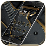 Gold guitar Theme gold music Icon