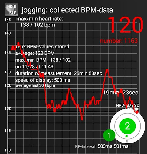 BLE Heart Rate & HRV:  Monitoring and Recorder ss3