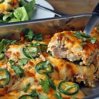 Buffalo Chicken Jalapeno Popper Casserole.