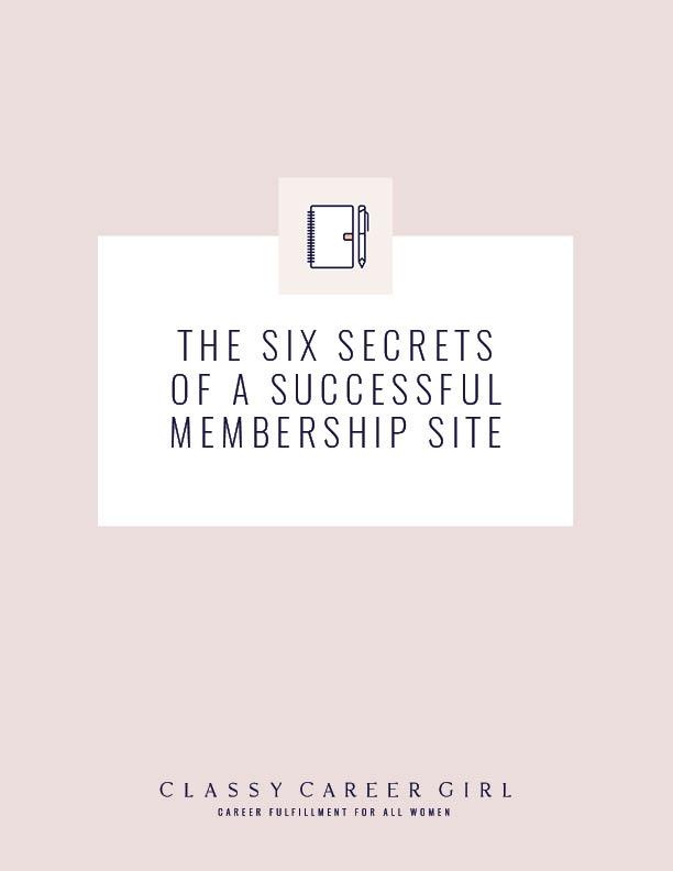 The 6 secrets to a successful Membership site guide by Anna Ruyan