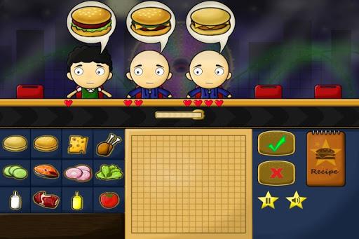 游戏烹饪汉堡包