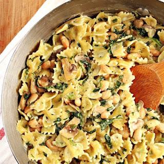 One-Pot Mushroom Spinach Pasta