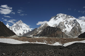 Photo: K2 (8611m) and Broad Peak (8051m) from Concordia.