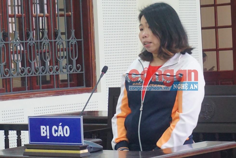 Bị cáo Lang Thị Liên tại phiên tòa