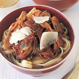 Spaghetti With Tuna, Pancetta And Dried Mushrooms