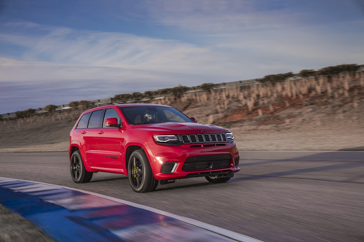 American fury: 522 kW strong Jeep Trackhawk will go on sale in 2019 Picture: SUPPLIED