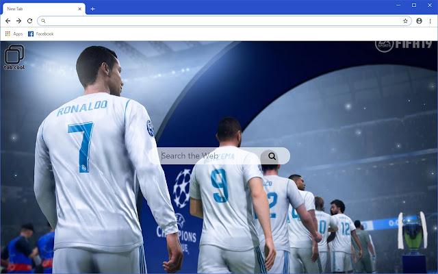 Cool FIFA 19 HD  Games New Tab Theme