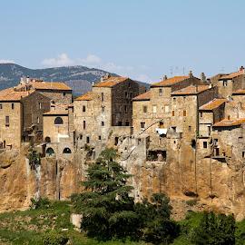 Pitigliano by Alessandro Calzolaro - City,  Street & Park  Historic Districts ( tuscany, village, pitigliano, italy, country, city,  )