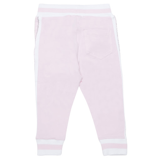 Thumbnail images of Monnalisa Pink & White Sweatpants