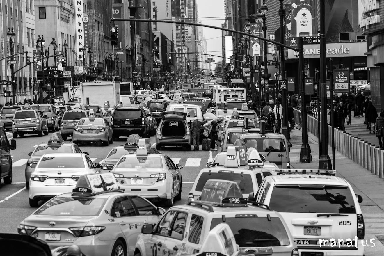 aglomeración en el centro de nueva york