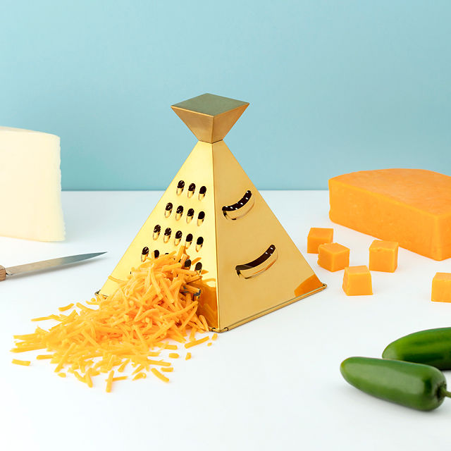 gold cheese grater kitchen cooking tool | kimschob.com
