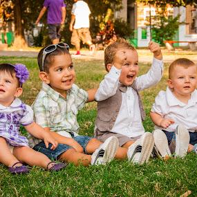 Happy Kidds by Stoyan Katinov - Babies & Children Child Portraits ( grass, happy, children, kids, smiles )