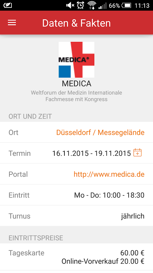 MEDICA- screenshot