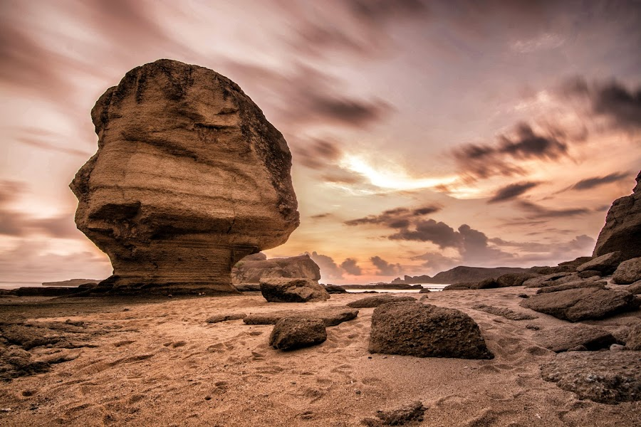 umbrella stone - Lombok Tengah - NTB by Saddam Pradana II - Landscapes Sunsets & Sunrises