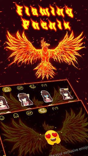 Fire Phoneix Legend Keyboard Theme 4.5 screenshots 4