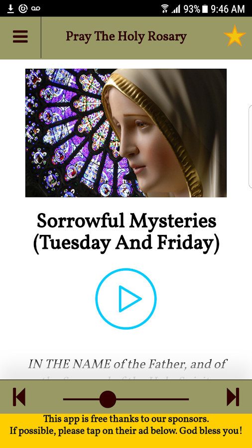 Pray the Holy Rosary With Audio Free Catholic App- screenshot