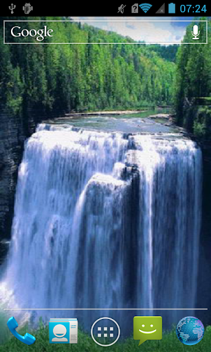 Forest waterfall Live WP