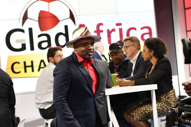 Tim Sukazi of TS Galaxy during the official launch of the GladAfrica Championship at Studio 6 on August 13, 2019 in Johannesburg, South Africa.