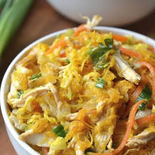 Spaghetti Squash Chicken Chow Mein.