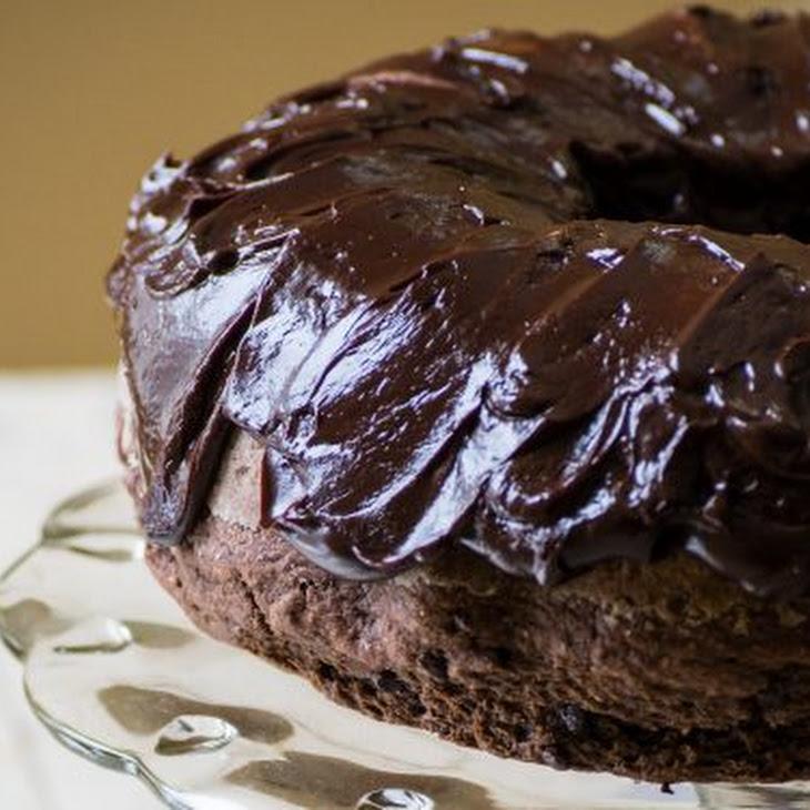 Triple Chocolate Sourdough Banana Bundt Cake