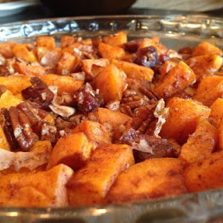 Candied Sweet Potatoes with Pecans and Dates