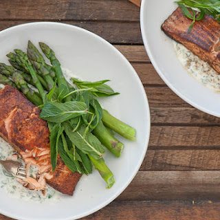 Indian Spiced Salmon with Minty Yoghurt.