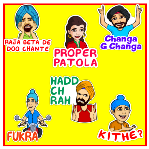 Indian funny stickers for whatsap (WAStickerApps)
