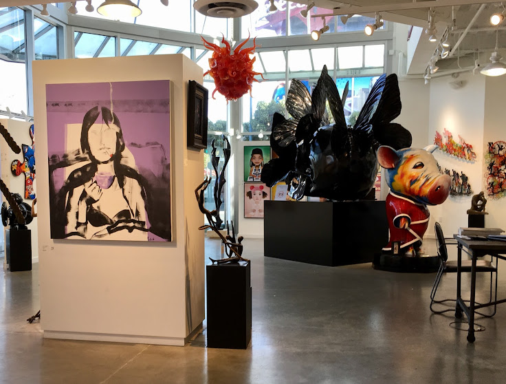 Sculpture, paintings and mixed media in the ZK Gallery.
