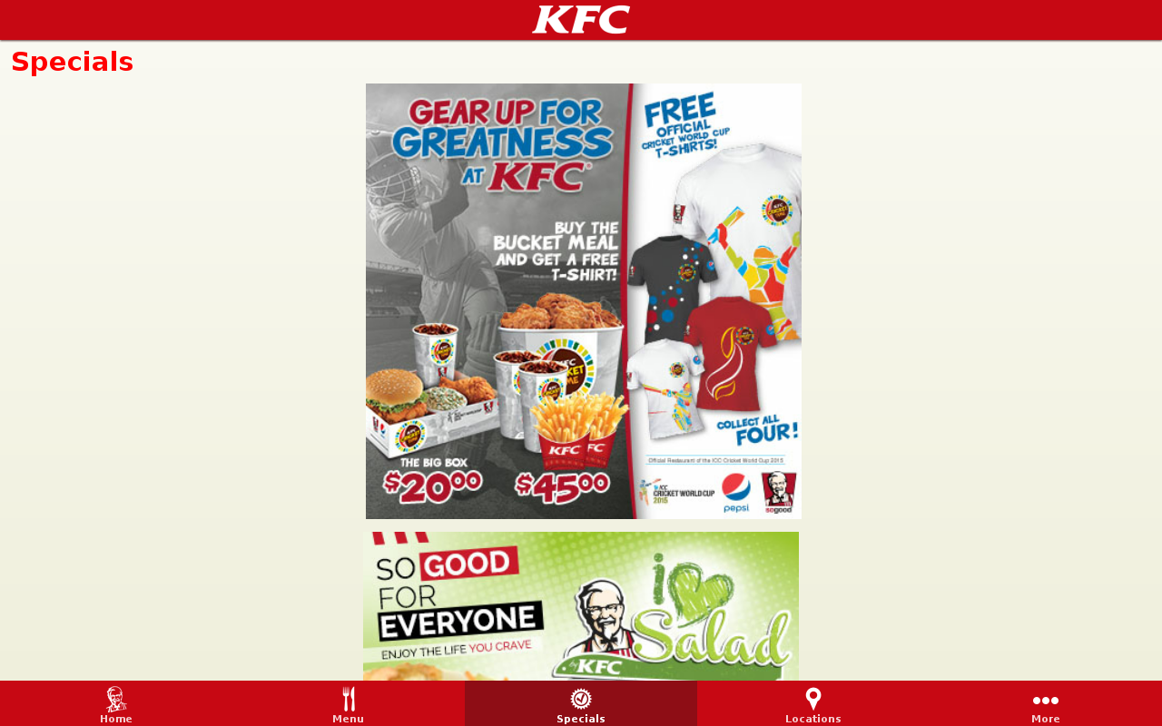 KFC St. Lucia- screenshot