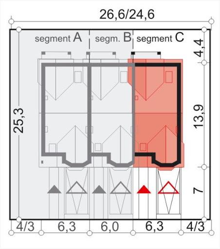 Fiona segment C skrajny prawy - Sytuacja