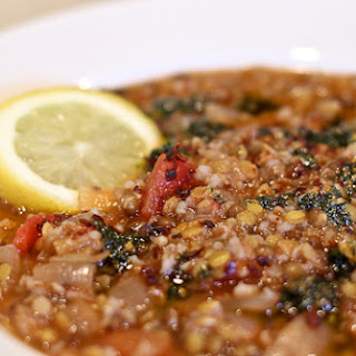 Lentil and Bulghur Soup with Minted Garlic Olive Oil Butter and Camp Memories