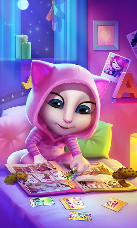 Screenshots of My Talking Angela for iPhone