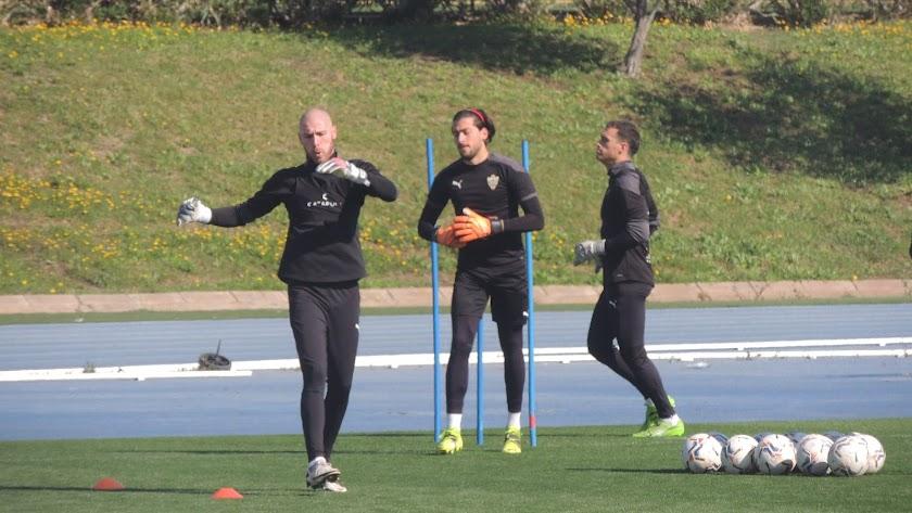 Makaridze, Tarrés y Fernando en uno de los entrenamientos de la temporada.