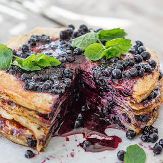 Blueberry Thousand Layer Cake.