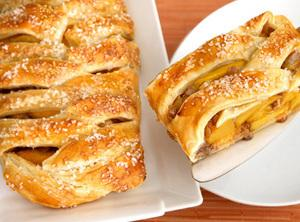 BRAIDED PEACH STRUDEL Recipe