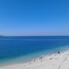 Beach near Primosten by Alba Nix - Landscapes Beaches ( blue sky, loneliness, blue, sea, beach )