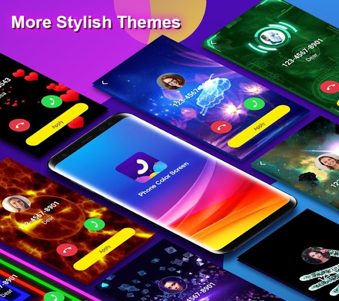 Phone Color Screen - Colorful Call Flash Themes Android App Screenshot