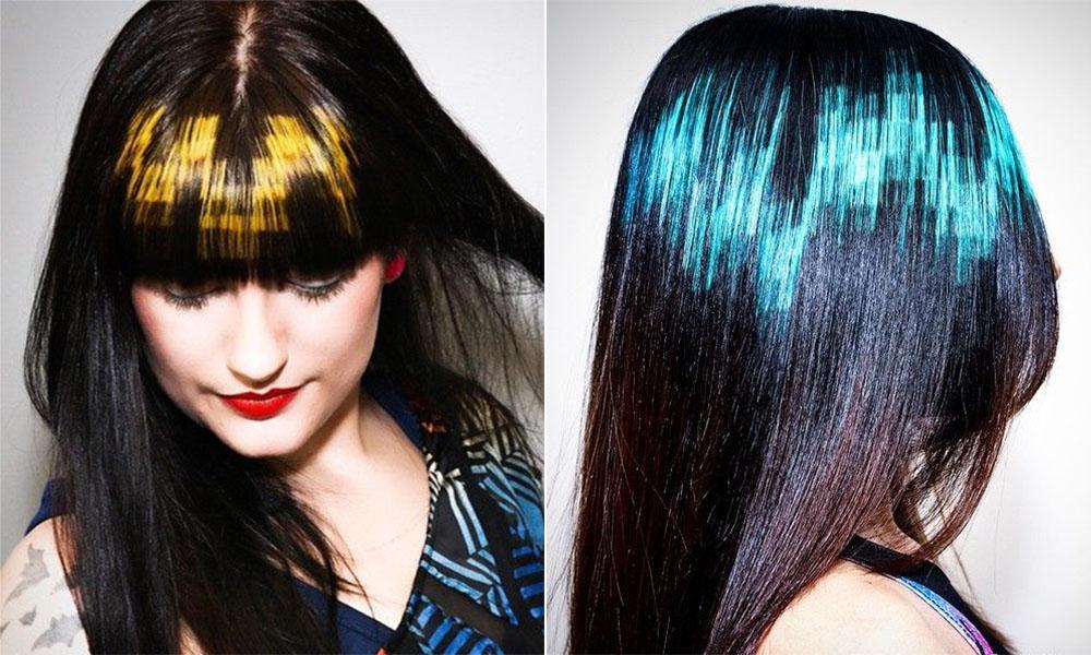 Графическое окрашивание волос