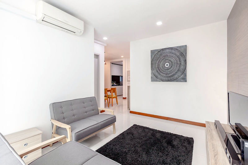 Living area at Balestier apartment