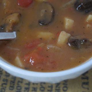 Hearty Vegetable Soup With Portabello Mushrooms