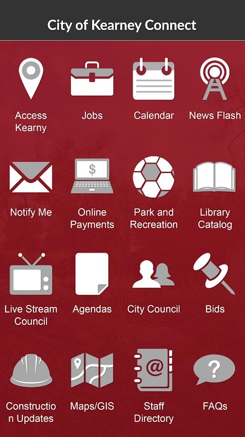 City of Kearney Connect- screenshot