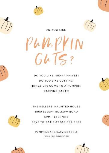 Pumpkin Guts - Halloween Template