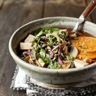 Red Miso Soup Loaded with Veggies.