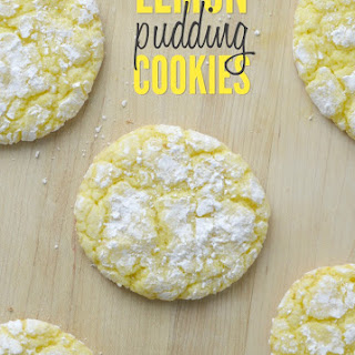 Lemon Pudding Crinkle Cookies