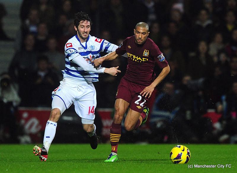 Photo: Queens Park Rangers' Esteban Granero (left) and Manchester City's Gael Clichy battle for the ball