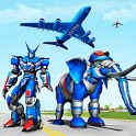 Police Elephant Robot Game: Police Transport Games icon