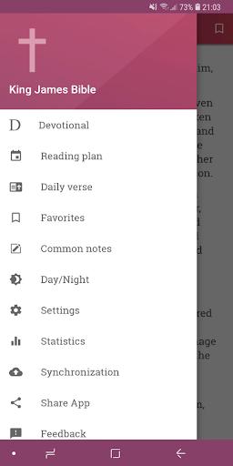 King James Bible (KJV) Free Bible Verses Audio App Report on