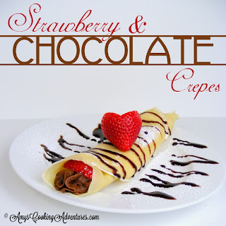 Strawberry & Chocolate Crepes.