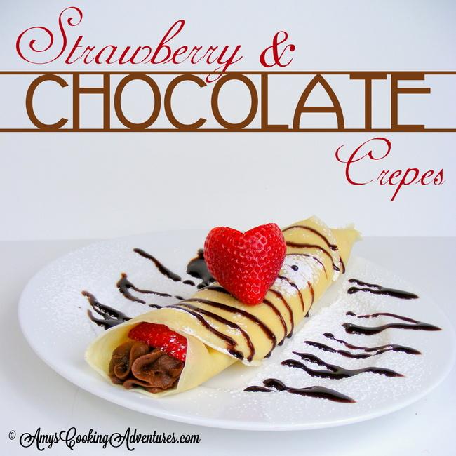 Strawberry & Chocolate Crepes Recipe | Yummly